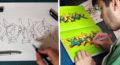 Ako nakresliť graffiti sketch: Blackbook sketching by Keys